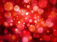 2016年红色绚丽光斑背景图片