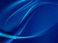 蓝色抽象波纹背景矢量图