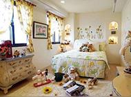 欧式田园卧室背景墙装修效果图温馨甜美