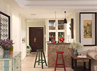 130平米三居室时尚地中海风格装修图片