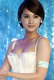 台湾女星杨丞琳低胸装代言宣传照