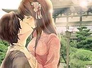 动漫美女和男生接吻唯美图片