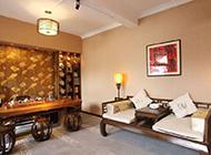 中式混搭别墅客厅装修效果图欣赏