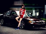 日产个性改装车可爱少女帅气写真