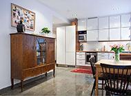 厨房开放式田园风格装修效果图大全