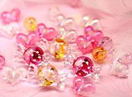水晶糖果精致唯美课件素材图片