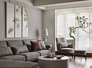 素雅简约后现代3居室效果图