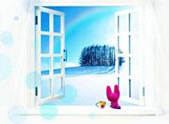 素雅唯美浪漫冬日风景精致背景素材