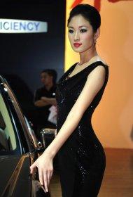 车展上的美女长腿车模合集
