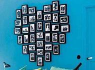 心形相片墙设计素材
