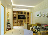 时尚温馨风格单身公寓室内装修效果图