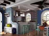 小复式厨房混搭田园装修效果图