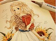 美女素描画图片唯美精致
