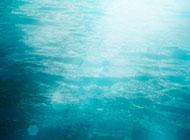蔚蓝的海洋清新淡雅背景图片
