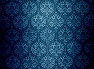 古典蓝色锦缎花纹背景图片