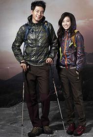 赵寅成韩孝珠代言登山服装品牌写真 尽显才子佳人