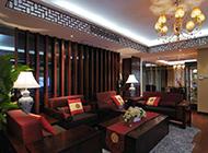 豪华中式三居室新房装修设计欣赏