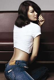 申敏儿代言牛仔裤魅力写真