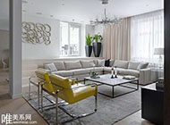 俄式时尚简约公寓设计装修图