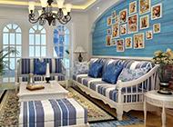 地中海简约客厅装修效果图温馨时尚