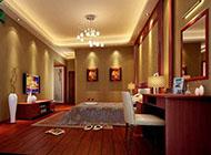 宽敞复古的中式卧室装修设计图片