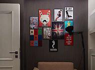 创意照片墙客厅简约装修效果图