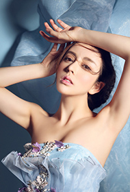 美女模特高兮妍蓝裙尽显古典之美