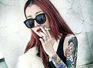 时尚女生个性纹身图片