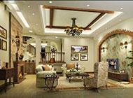 小户型客厅美式田园风格装修图片