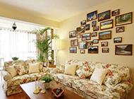 客厅简约复古田园装修效果图欣赏