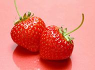 诱人鲜艳红草莓新鲜水果精美图集