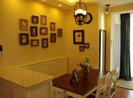 美式田园风格餐厅相片墙设计案例
