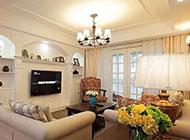 欧式混搭客厅背景墙设计装修效果图