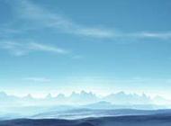 蓝色山峦天空qq背景皮肤大图