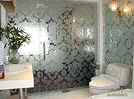 打造宽敞空间的卫生间玻璃隐形门效果图
