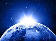 简单蓝色星球图片背景大全
