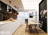 黑白时尚搭配打造简约单身公寓图片赏析