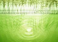 素雅淡绿湖面涟漪唯美高清背景图片