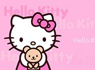 hellokitty粉色浪漫背景图片