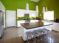 大气时尚的厨房吧台装修效果图