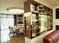 客厅餐厅博古架隔断效果图