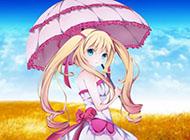 拿着伞的唯美动漫美少女图片