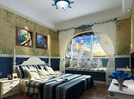 清新唯美的复式地中海卧室装修效果图大全