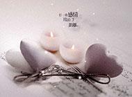 温馨蜡烛浪漫梦幻风格背景图