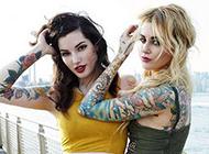 美女性感彩绘纹身图片欣赏