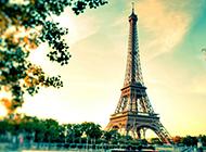 埃菲尔铁塔唯美背景图片素材