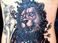 霸气狮子纹身个性纹身图片