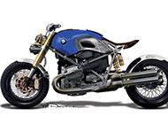 强悍大气的宝马摩托车高清图片