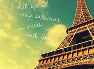 爱情见证唯美巴黎埃菲尔铁塔图片