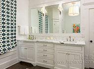 奢华大气的浴室柜装修效果图